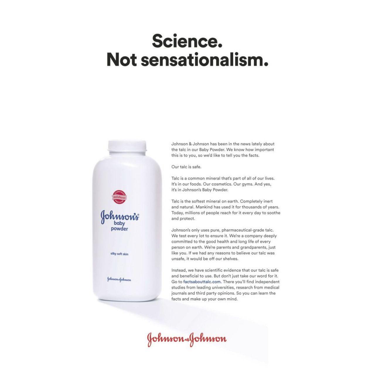 Johnson & Johnson slår tillbaka